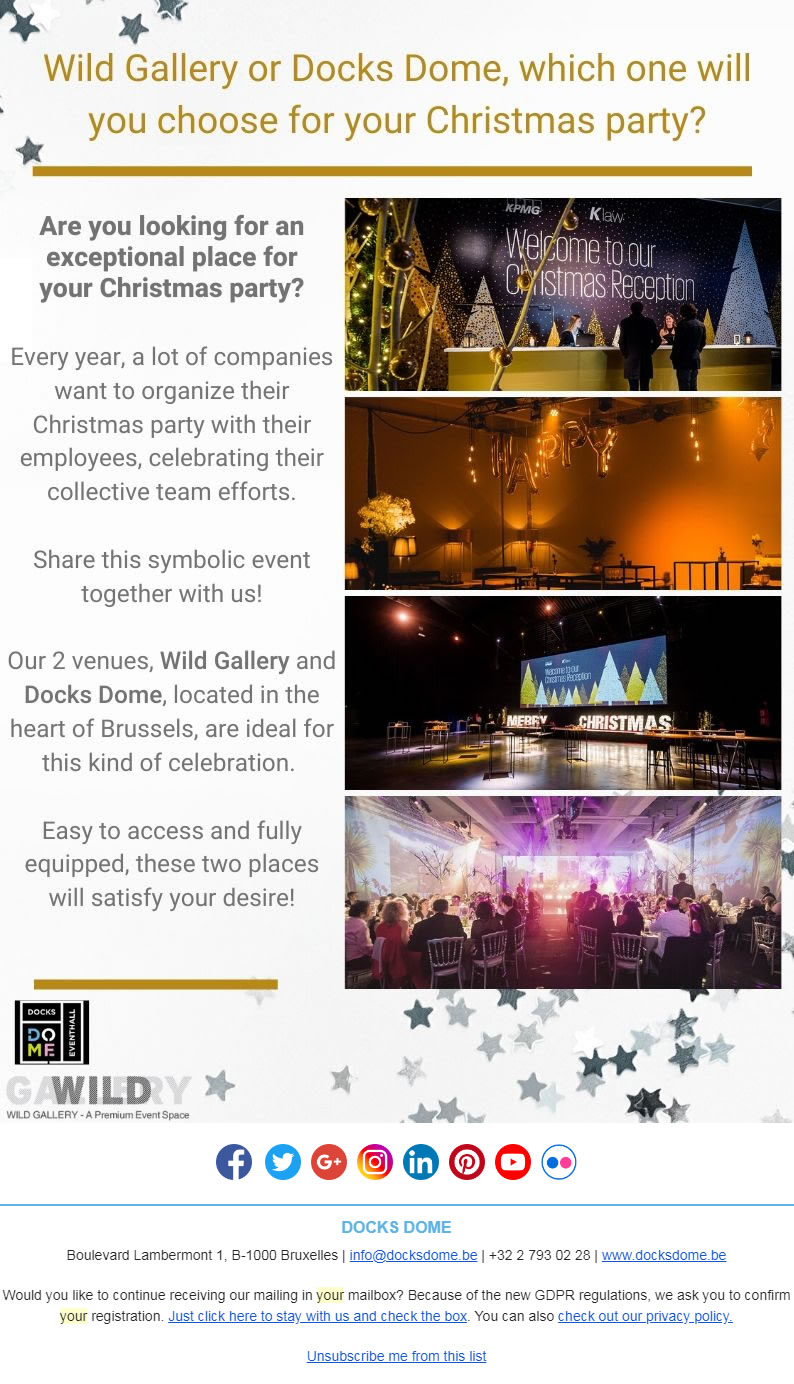 An event venue for your Christmas party